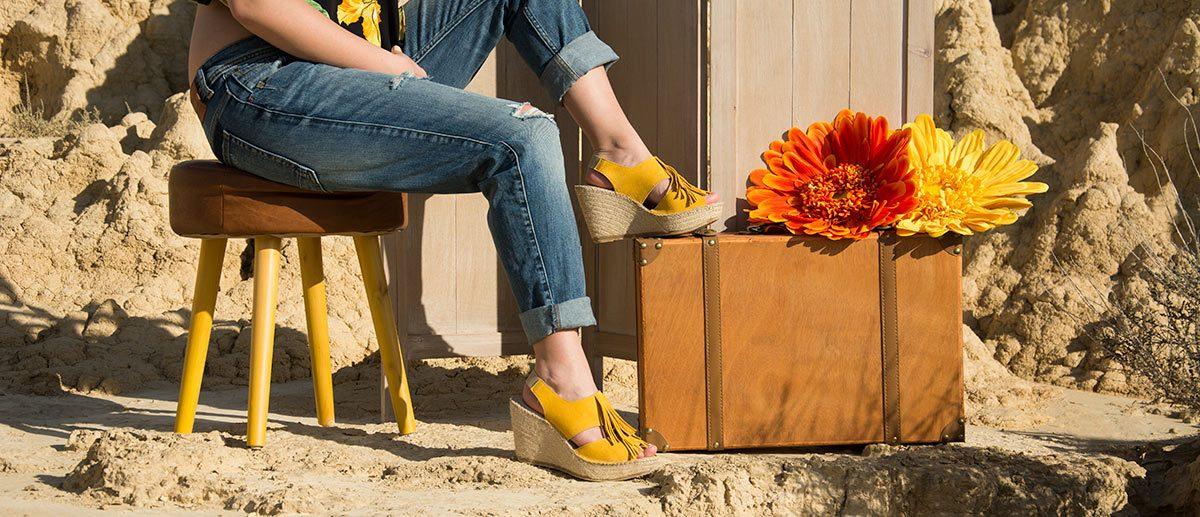 Sandalias de yute hechas a mano en España